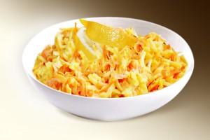 Салат «Морковный с сельдереем» (морковь, сельдерей, лимон, специи, сметана) 150 г