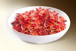 Салат «Огород» (капуста, свекла, морковь, яблоко, р-м, уксус, специи) 150 г