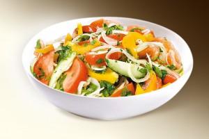 Салат «Крестьянский» (помидоры, огурцы, сл.перец, специи, р-м) 150 г