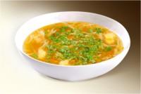 Суп «Вермишелевый с курицей» (картофель, вермишель, лук, морковь, куры, специи) 300 г