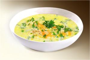 Суп «Сырный» (картофель, сыр плавленый, морковь, лук, специи) 300 г