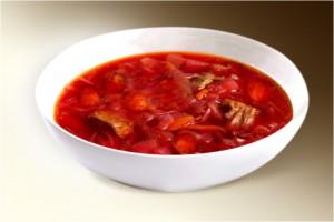 Суп «Борщ Белорусский» (говяд., сосиски, картофель, морковь, лук, свекла, корень петрушки, томат, специи) 300 г