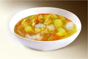 Суп «Осенний» (картофель, морковь, лук, капуста, цв. капуста, специи) 300 г