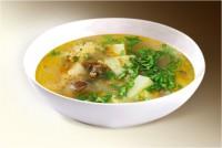 Суп «Охотничий» (картофель, лук, морковь, печень, куры, пшенка, специи) 300 г