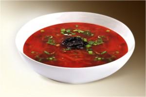 Суп «Борщ с черносливом» (картофель, морковь, лук, свекла, капуста, чернослив, томат, специи) 300 г