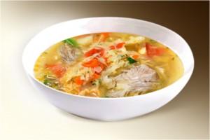 Суп «Щи царские» (капуста, картофель, морковь, лук, помидор, свин, сельдерей, специи) 300 г