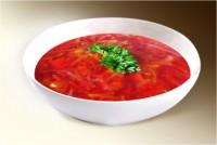 Суп «Борщ Украинский» (картофель, капуста, морковь, лук, свекла, уксус, соль, сахар, сельдерей, корень петрушки) 300 г