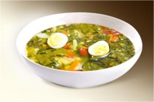 Суп «Щи зелёные с яйцом» (шпинат, яйцо, бульон, специи, картофель, лук) 300 г