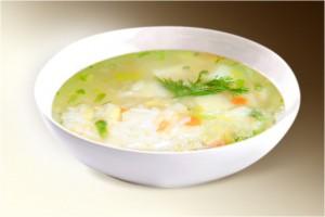 Суп «Болгарский» (бульон, рис, сл.перец,  сельдерей, зел.гор) 300 г