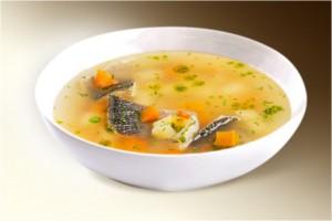 Суп «Уха классическая» (пшено, рыба, картофель, лук, морковь, специи) 300 г