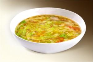 Суп «Щи постные из свежей капусты» (капуста, морковь, лук, сельдерей, корень петрушки, имбирь, специи) 300 г