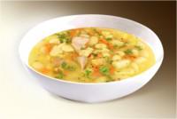 Суп «Фасолевый с мясом» (фасоль, картофель, лук, морковь, мясо, специи) 300 г