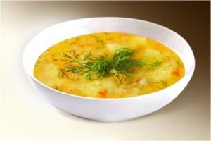 Суп «Полевой» (пшено, картофель, лук, морковь, специи, куры) 300 г