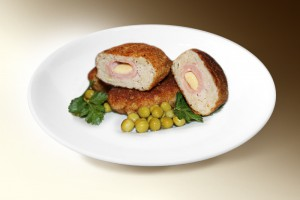 Котлеты с сыром (свин., говяд., лук, яйцо, сыр, специи) 120 г