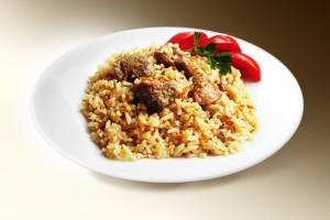Плов по-узбекски (говяд, рис, лук, морковь, специи) 250 г