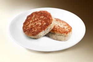 Котлеты «Геркулес» (свин., говяд., картофель, лук, овсяные хлопья, яйцо, молоко, специи) 120 г
