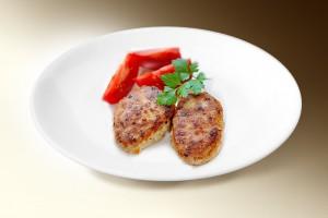Котлеты «Нежные» (свин, говяд, чеснок, лук, горчица, молоко, яйцо, картофель, мука) 120 г
