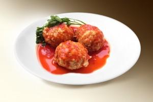 Тефтели в томатном соусе (свин, говяд, рис, морковь, лук, специи) 100/20 г