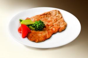 Шницель рубленный (свин, говяд, яйцо, лук, панировка, специи) 120 г