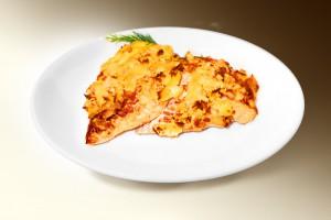 Куриное филе по-аргентински (филе кур, сл.перец, м-з, сыр) 120 г
